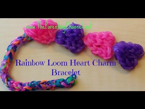 RAINBOW LOOM EASY HEART BRACELET & CHARM - Rainbow Loom Canada