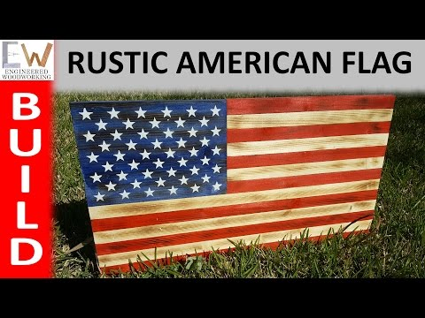 Rustic Charred American Flag