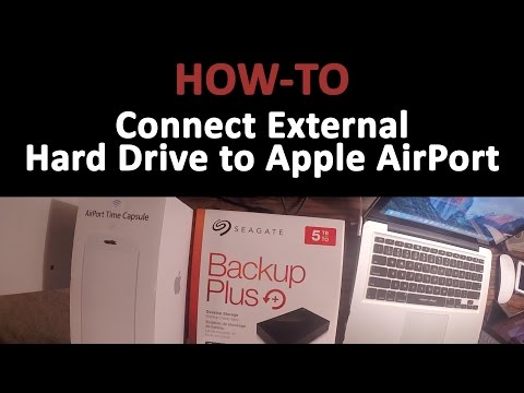 How-to Connect an External Hard Drive to an Apple AirPort