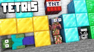Monster School : TETRIS GAME Challenge - Minecraft Animation