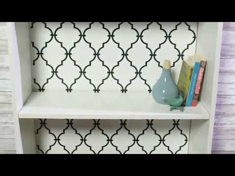 Makeover a Bookcase with Peel and Stick Wallpaper