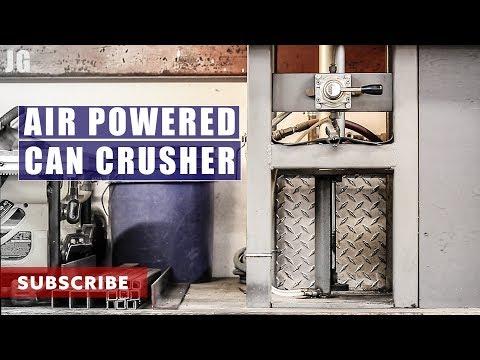 Air Powered Can Crusher | JIMBO'S GARAGE