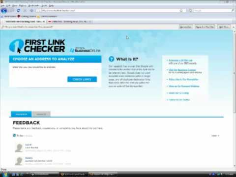 BusinessOnLine's First Link Checker