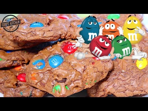 Chocolate M&M Fudge Cookies - How to make recipe
