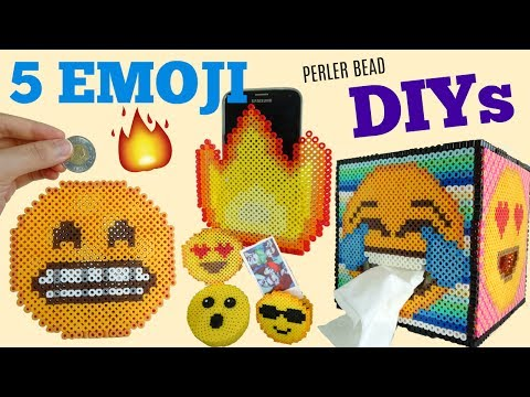 5 DIY Perler Bead Emoji Room Décor Projects!