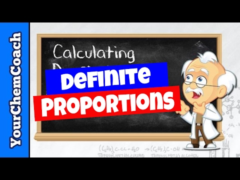 Stoichiometry Proof for the Law of Definite Proportions
