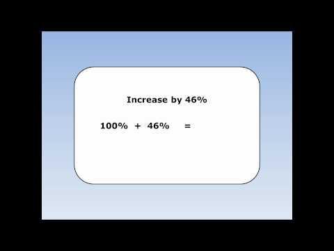 Percentage increase 4 - Using Multipliers