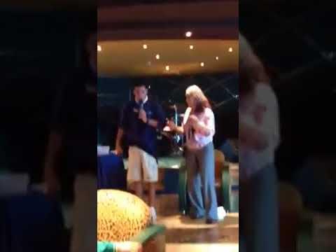Eileen Dances for Ice Cream on MSC Cruise 2016