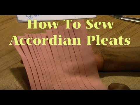 How To Sew Accordion Pleats
