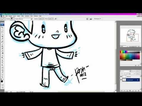 How to draw a cartoon boy using Adobe Photoshop CS3
