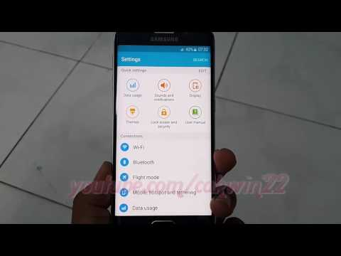 Samsung Galaxy S6 : How to turn on or turn off Vibration Universal Switch Feedback