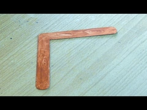 How to make a mini indoor boomerang