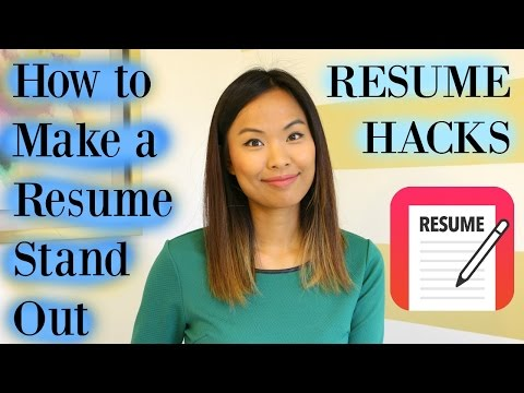 Resume Hacks - How to Make a Resume Stand Out
