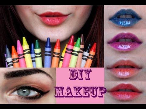 DIY MAKEUP : Crayola Crayon Lipsticks & Gel Eyeliner