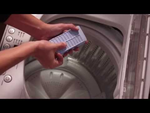 Cleaning the Lint Filters and Dispenser - Haier HLPW028AXW Top-Load Compact Washer