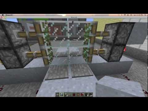 Minecraft How to Build an Automatic Sliding Glass Door Tutorial