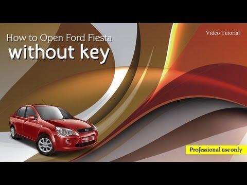 Unlock Ford Fiesta without key