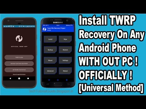 How To Install TWRP Recovery  With Out PC On Any Android Phone 2017