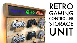 DIY Video Game Controllers Storage Rack - Pallet Wood Project