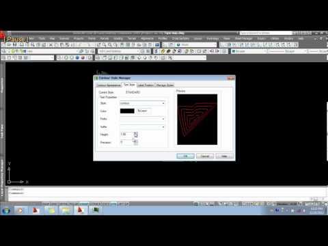AutoCAD Land Desktop 10 Changing text height of contour label