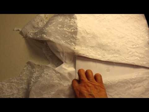 Wedding dress change zip to lace up Part 1