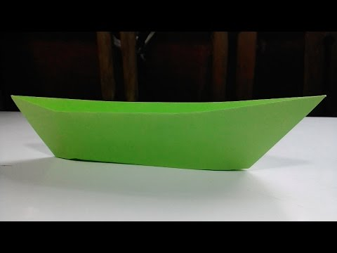 How to make a real paper boat | Paper boat canoe | Paper origami | Paper craft