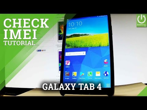 How to Check IMEI in SAMSUNG Galaxy Tab 4 - IMEI Info
