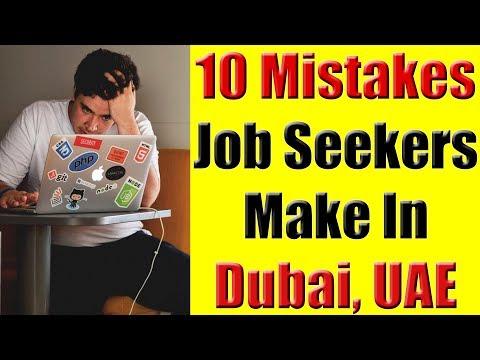 Jobs in Dubai, UAE - 10 Mistakes Job Seekers Make When Huntings for Jobs In Dubai, UAE