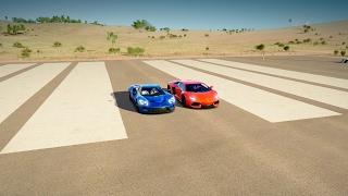 Ford Gt Vs Lamborghini Aventador Drag Race Forza Horizon