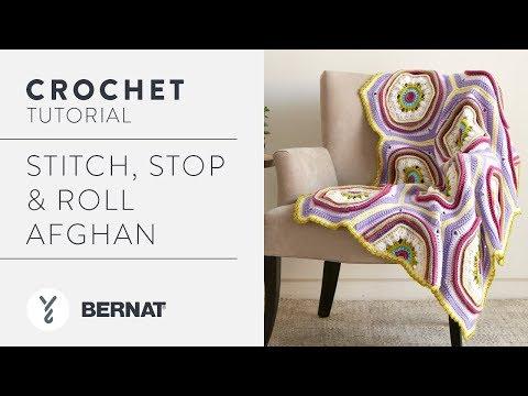 Crochet Stitch, Stop & Roll Afghan Tutorial