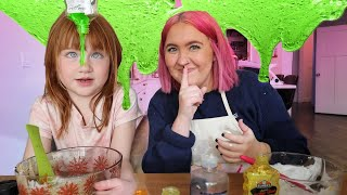 i made an ADLEY ViDEO!! Teaching my friend Alli how to make homemade SLiME and it got a little messy