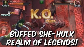 Download 5 Star Buffed She-Hulk VS Realm of Legends Wolverine & More! - Marvel Contest Of Champions Video