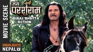 Biraj Bhatta Action Scene - Nepali Movie JAI PARSHURAM || Nisha Adhikari