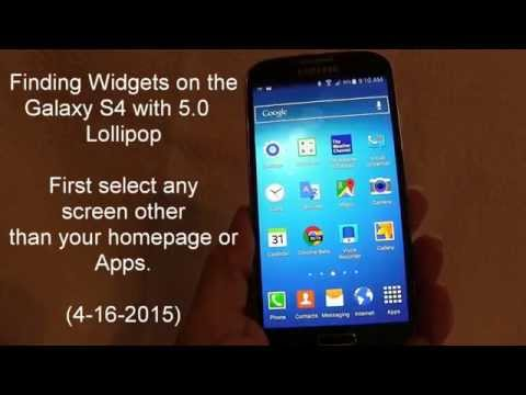 Galaxy S4 Finding Widgets with Lollipop 5.0
