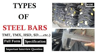 Download Types of steel bars TMT, TMX, HSD, CRS, SD| Key Features, Full Forms Video
