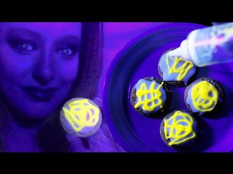 How to make UV Glow in the Dark Cookie Icing - DIY Tutorial - Halloween Food ideas