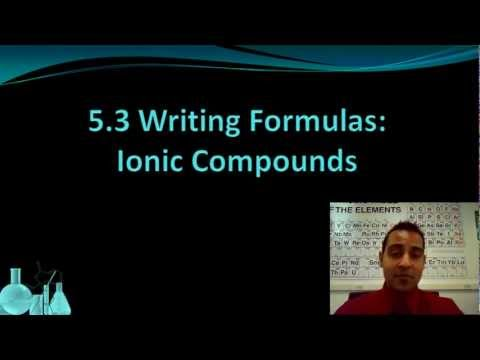 Chemistry 5.3 Formula Writing: Ionic Compounds