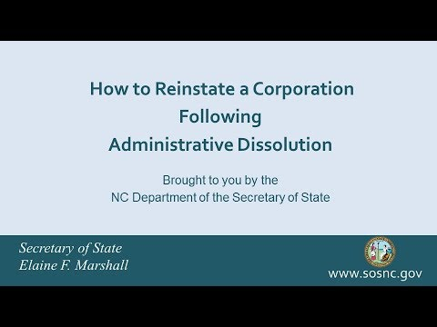 How to Reinstate a Corporation Following Administrative Dissolution