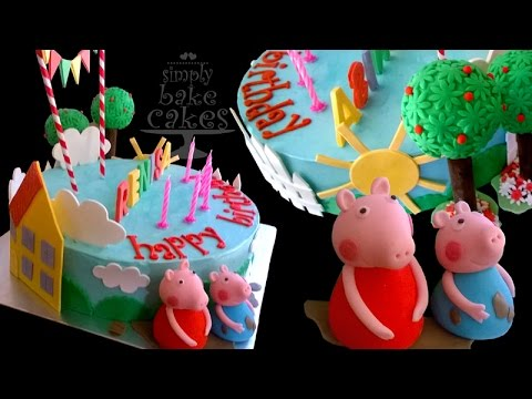 How to make a Peppa Pig themed birthday Cake