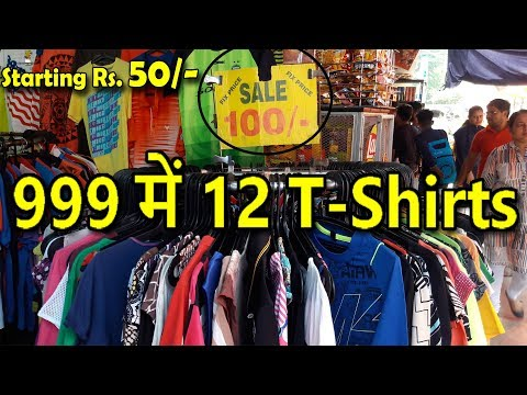 Custom T-shirts Market | Best Market For T-shirt Lovers | Branded T-shirts In Cheap Price...