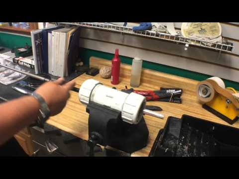 how to build golf clubs, spinning the shaft