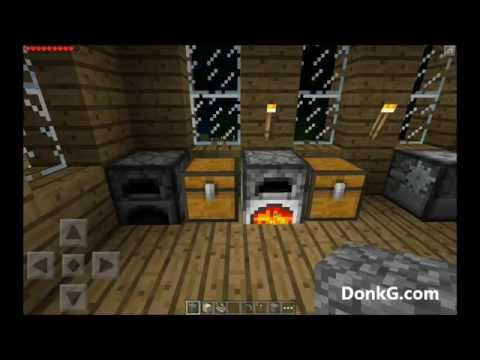 Minecraft Pocket Edition Using Lava Bucket With Furnace