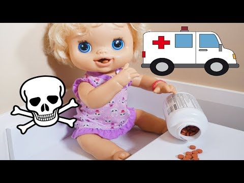 BABY ALIVE Emily Goes To Hospital Because She Snuck Into The Medicine!