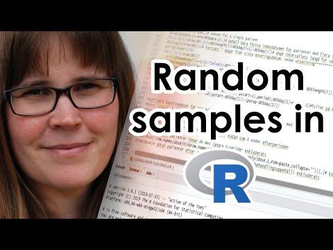 Random samples in R