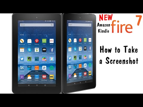 Fire 7 Tablet (5th Gen Kindle Fire ) How to Screenshot​​​ | H2TechVideos​​​