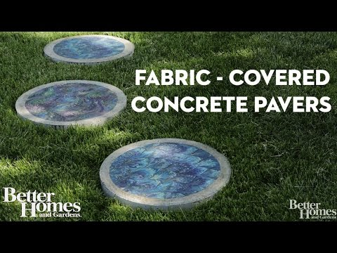 Fabric-Covered Stepping Stones