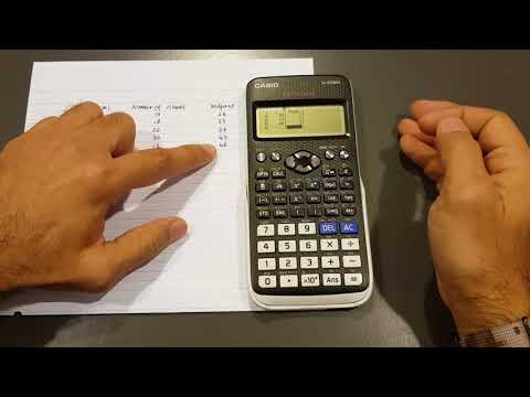 Calculating Mean, Variance and Standard Deviation Using 570 EX Calculator