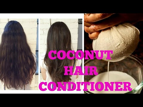 Coconut hair conditioner for long straight hair