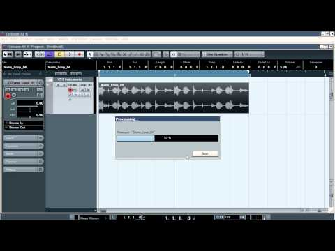 Cubase. Pitch Bend of Audio Samples. 2 Ways.