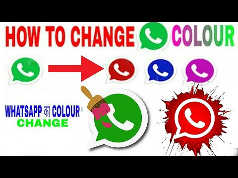 How To Change Whatsapp Icon Color On Android ,Hindi Urdu Tips